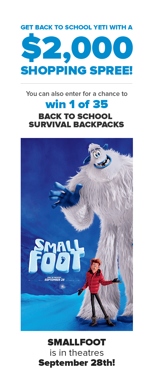 Smallfoot Back to School | YTV Contest