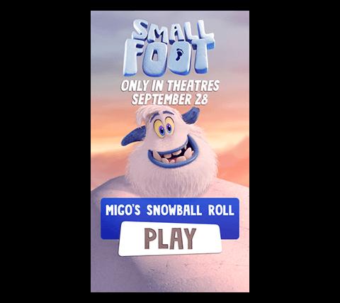 Play Migo's snowball roll